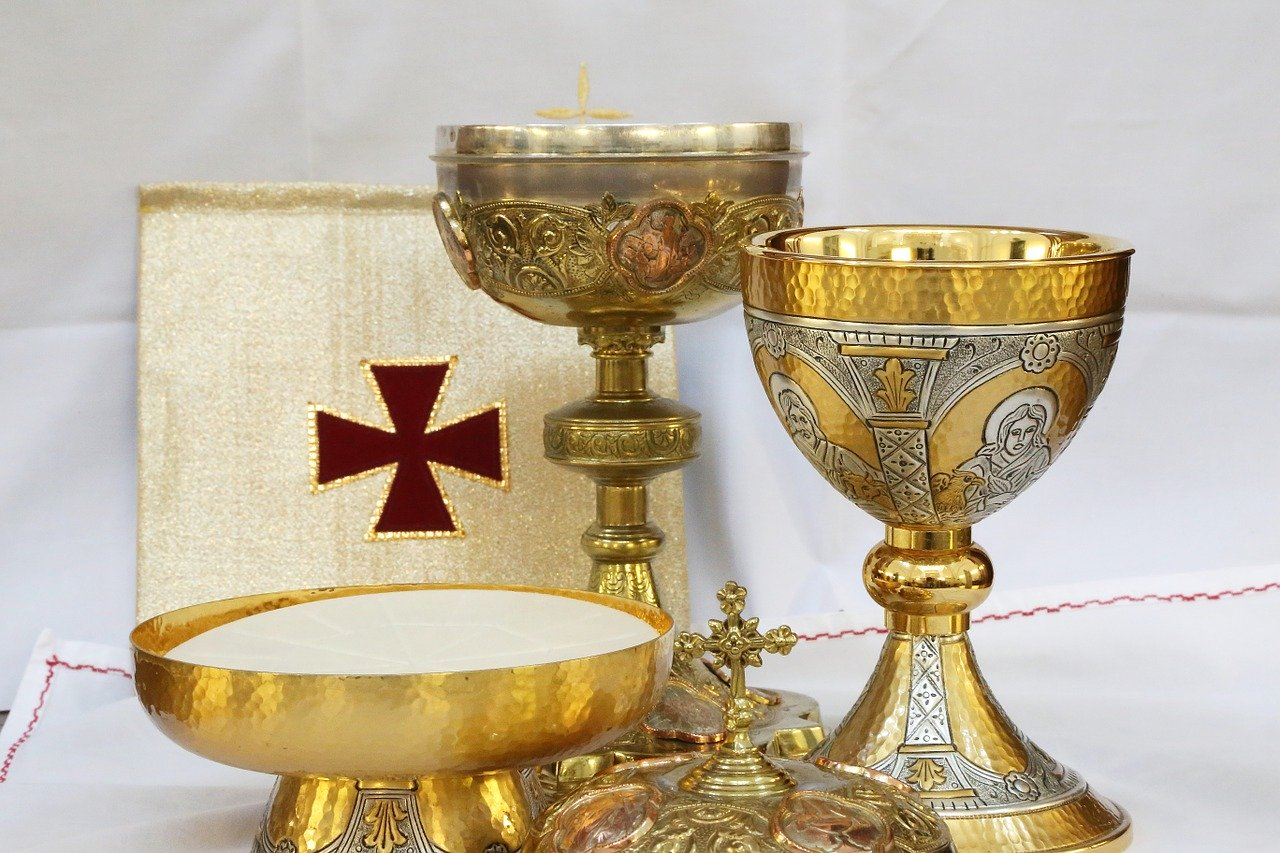 cross, crucifix, chalice