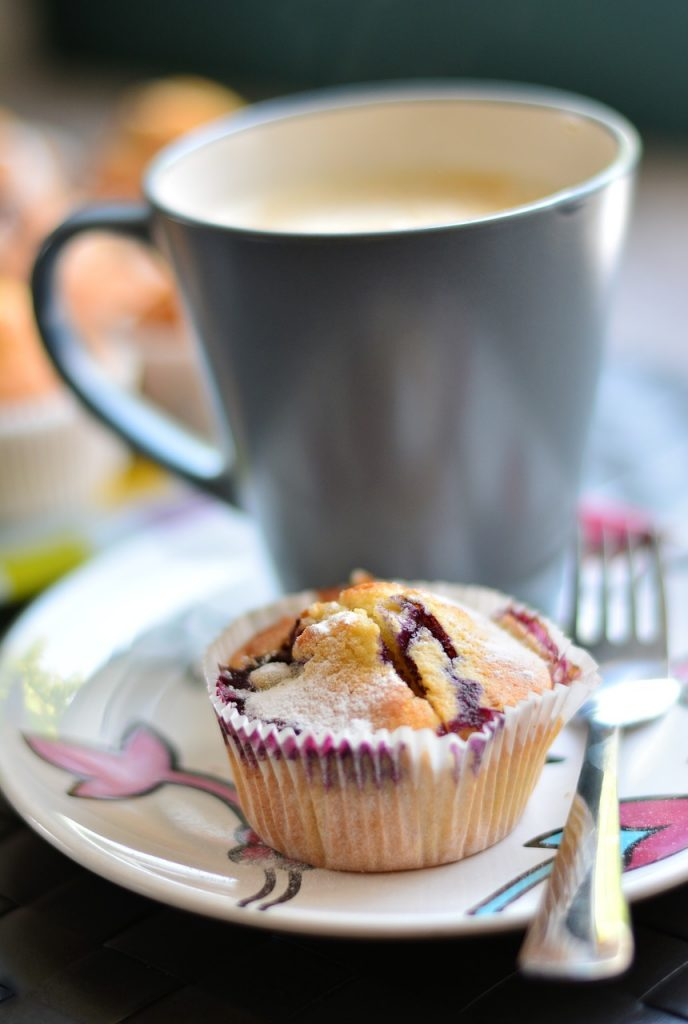 muffins, blueberry muffins, cake