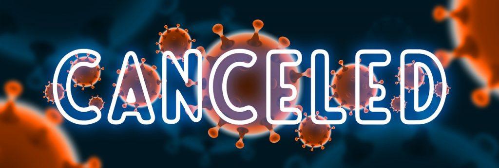 canceled, coronavirus, symbol